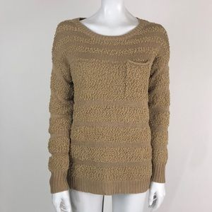 Romeo & Juliet Couture Tan Front Pocket Sweater